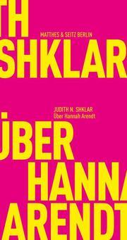 Über Hannah Arendt - Cover