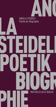 Poetik der Biographie - Cover