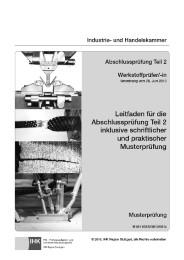 Werkstoffprüfer/-in - Leitfaden für die Abschlussprüfung Teil 2 inklusive schriftlicher und praktischer Musterprüfung - Cover