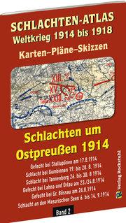 Historische Karten: SCHLACHTEN UM OSTPREUSSEN 1914