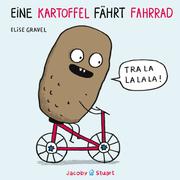 Eine Kartoffel fährt Fahrrad