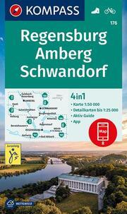 KOMPASS Wanderkarte Regensburg, Amberg, Schwandorf - Cover