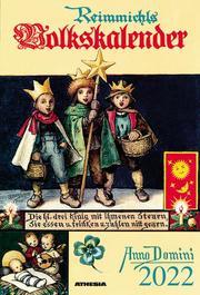 Reimmichls Volkskalender 2022 - Cover