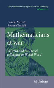 Mathematicians at war - Cover