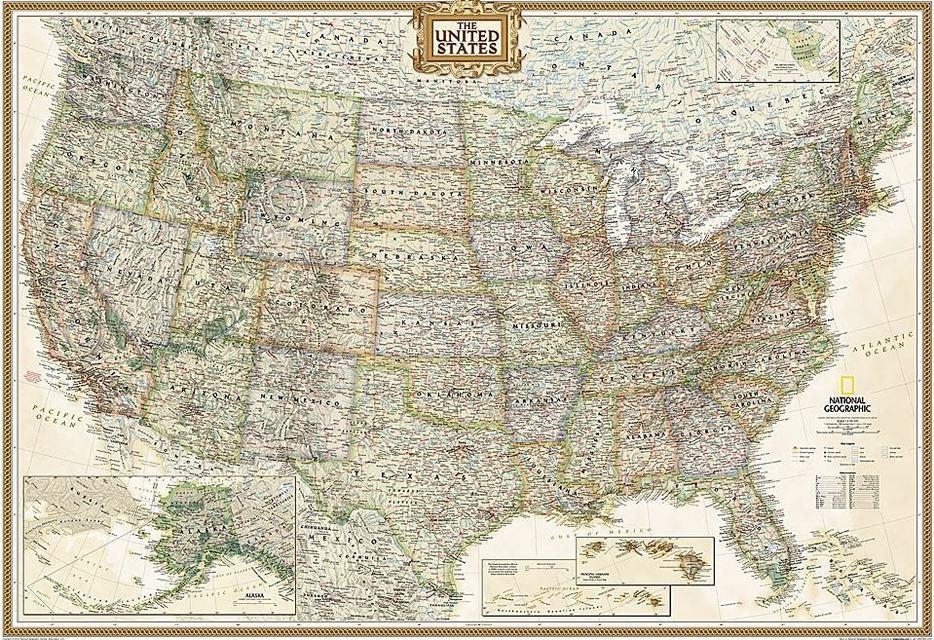 USA Executive, political Map | Buch Greuter | Der Online ...