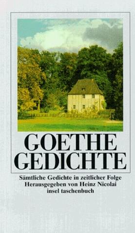 Gedichte Von Johann W Von Goethe Kartoniertes Buch