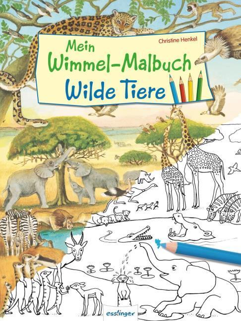 Mein Wimmel Malbuch Wilde Tiere Geheftet Buchhandlung Monika