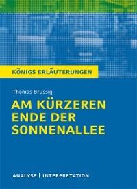 Am Kürzeren Ende Der Sonnenallee Von Thomas Brussig Textanalyse Und