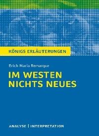 Im Westen Nichts Neues Von Erich Maria Remarque Textanalyse Und