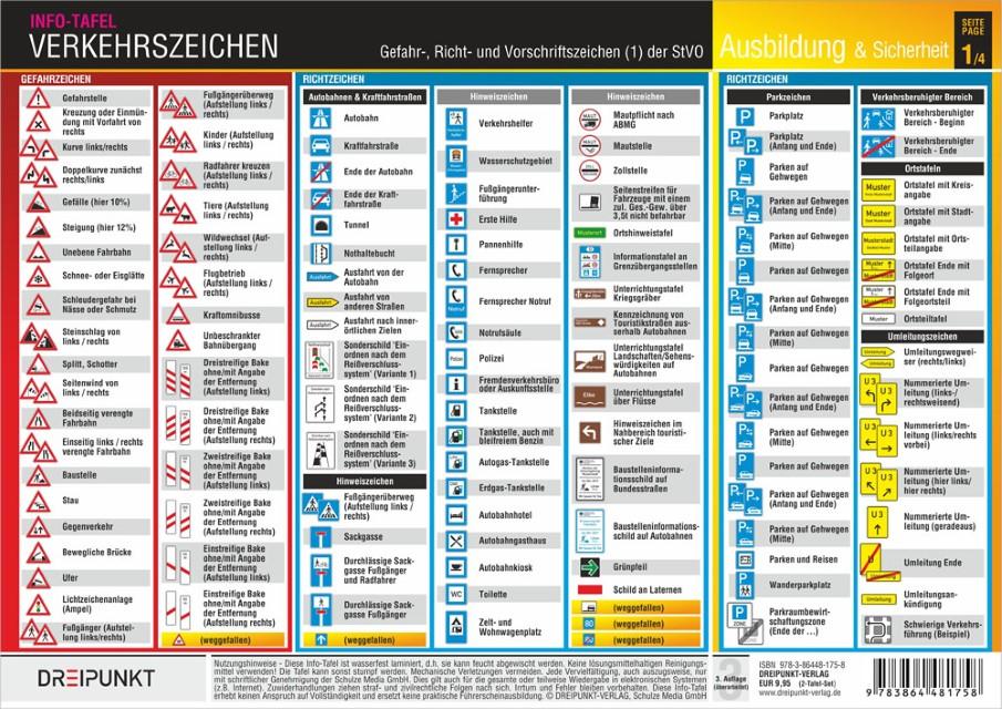 Info-Tafel-Set Verkehr/Verkehrszeichen | Ameis Buchhandlung