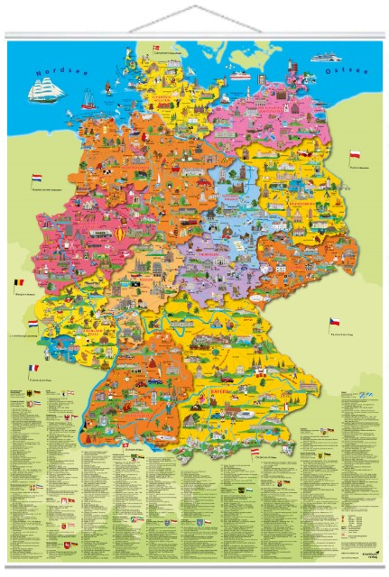 Illustrierte Politische Deutschlandkarte Evangelische