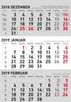 3-Monats-Kombiplaner 2019