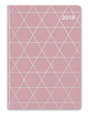 GlamLine Booklet Diary Antique Pink Silver 2019