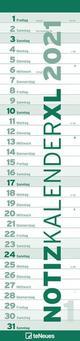Notizkalender XL Grün 2021