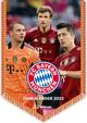 FC Bayern München 2022 - Mini-Bannerkalender - Fan-Kalender - Fußball-Kalender - 21x29,7 - Sport
