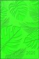 Taschenkalender, Kunstleder-Einband Trend 1: Floral, grün 2020
