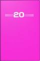 Taschenkalender, Kunststoff-Einband, pink 2020