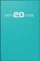 Taschenkalender, Kunststoff-Einband, petrol 2020