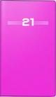 rido/idé Faltkalender Modell Miniplaner d 15, Kunststoff-Einband, pink 2021