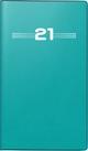 rido/idé Faltkalender Modell Miniplaner d 15, Kunststoff-Einband, petrol 2021