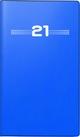 rido/idé Faltkalender Modell Miniplaner d 15, Kunststoff-Einband, blau 2021