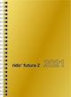 rido/idé Taschenkalender, Modell Futura 2, Glanzkarton-Einband, goldfarben 2021
