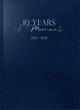 rido/idé 10-Jahres-Kalender,'10 Years of Moments', Kunstleder-Einband blau 2021-2030