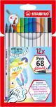 STABILO Pen 68 brush 12er mit Pinselspitze