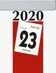 Tagesabreisskalender mit Rückseitentext 2019
