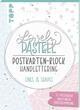 Lovely Pastell Handlettering Postkartenblock Lines & Shapes