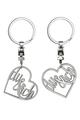 Schlüsselanhänger Herz 'du & ich'