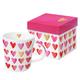 Trend Mug Gift Box 'Aquarell Hearts real gold'