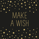 Servietten 'Make a Wish black'