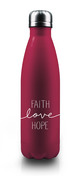 Isolierflasche 'Faith-Love-Hope'