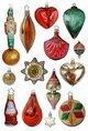 Glanzbilder / Oblaten - Nostalgische Weihnachtszeit