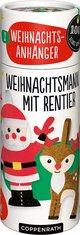 Weihnachtsanhänger - Weihnachtsmann mit Rentier