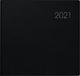 Quadratkalender Modell 766, Balacron-Einband, schwarz 2021