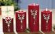 Kerzenzahlen 1-4 'Rentierkopf'