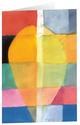 Kunstkarten 'Farbenfroher Bote'