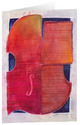 Kunstkarten 'Rote Violine'