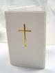 Gotteslob-Einsteckhülle Weiß mit Kreuz gold