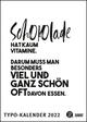 Sprüche-Kalender 2022 - Typo-Kalender von FUNI SMART ART - Poster-Format 50 x 70 cm