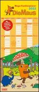 Die Maus 2022 - DUMONT Mega-Familienkalender mit 6 Spalten - Familienplaner mit 2 Stundenplänen und Ferientabelle - Hochformat 30,0 x 70,0 cm