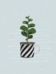 Plant it - Love it! Notizheft Tasse mit Pflanze
