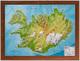 Relief Island klein 1:1.500.000 Holzrahmen