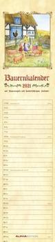 Streifenplaner Bauenkalender 2021 - Streifen-Kalender 11,3x49x5 cm - mit 100-jährigem Kalender und Bauernregeln - Wandplaner - Alpha Edition
