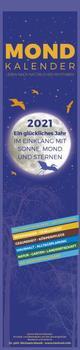 Mond Streifenplaner 2021 - Streifen-Kalender 11,3x49x5 cm - mit 100-jährigem Kalender - viele praktische Tipps - Wandplaner - Alpha Edition