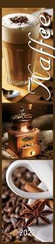 Küchenplaner Kaffee 2022 - Streifen-Kalender 11,3x49x5 cm - Kaffeekalender - mit leckeren Rezepten - Wandplaner - Küchenkalender - Alpha Edition