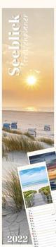 Streifenplaner Seeblick 2022 - Streifen-Kalender 11,3x49x5 cm - Strand und Meer - Küchenkalender - Wandplaner - Alpha Edition