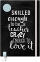 Das Notizbuch für Lehrerinnen und Lehrer A5, 'live - love - teach' - schwarze Edition